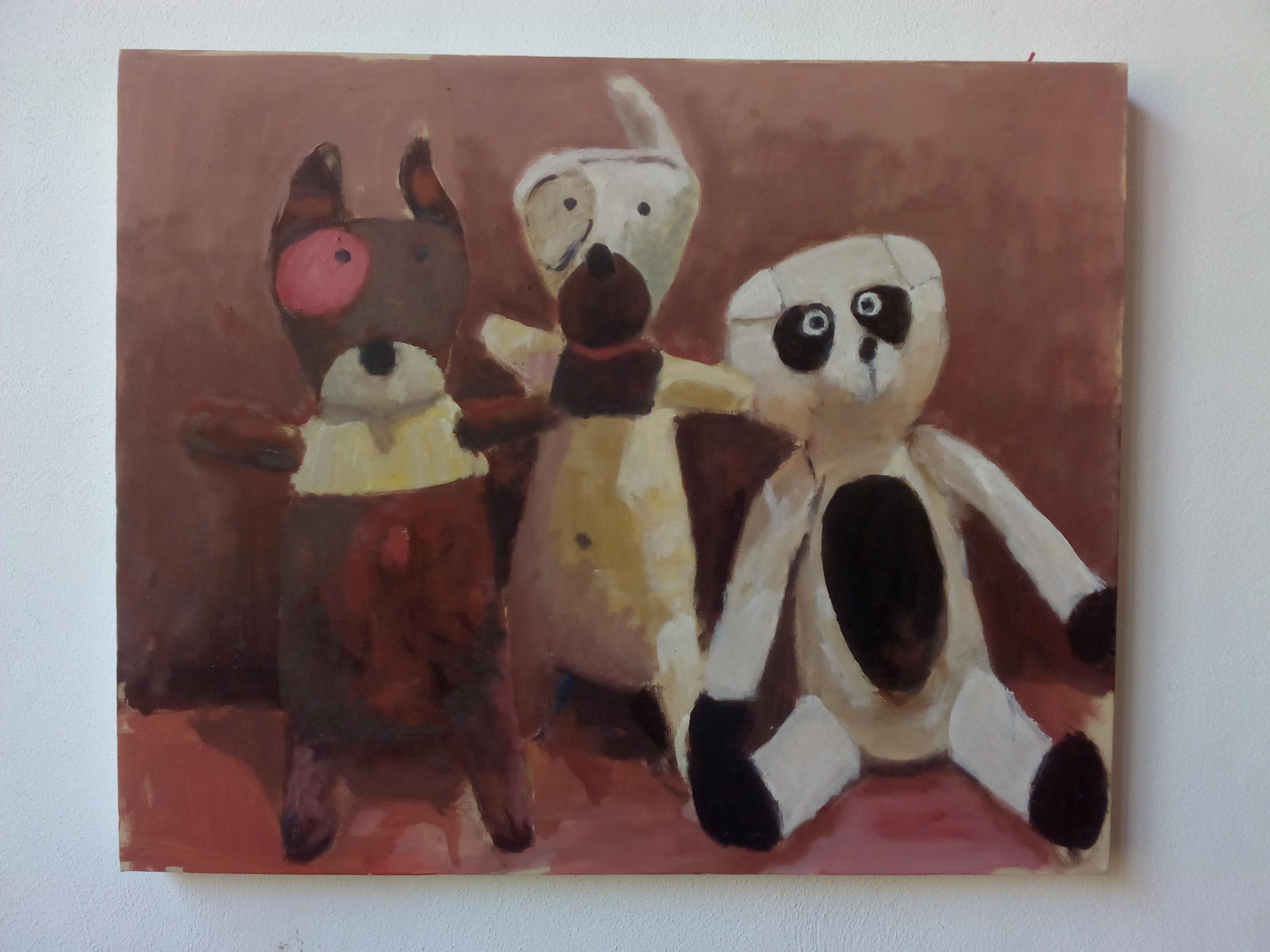 amigos para siempre - Arti Leimbacher 2014/15 - óleo 61x50